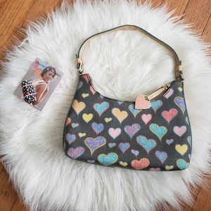 NWT Heart Pattern Dooney & Bourke Shoulder Bag